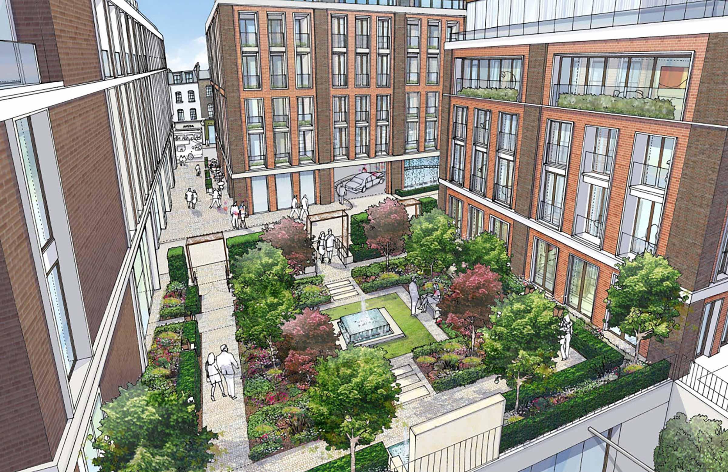 Residential Garden Square Landscape Design Lancer